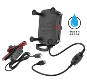 RAM Mount Tough-Charge™ X-Grip® Tech Waterproof Wireless Charging Houder + oplader
