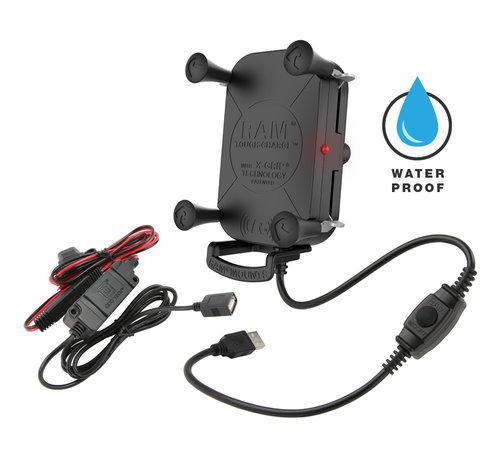 RAM Mount Tough-Charge™ X-Grip® Tech Waterproof Wireless Charging Houder  oplader