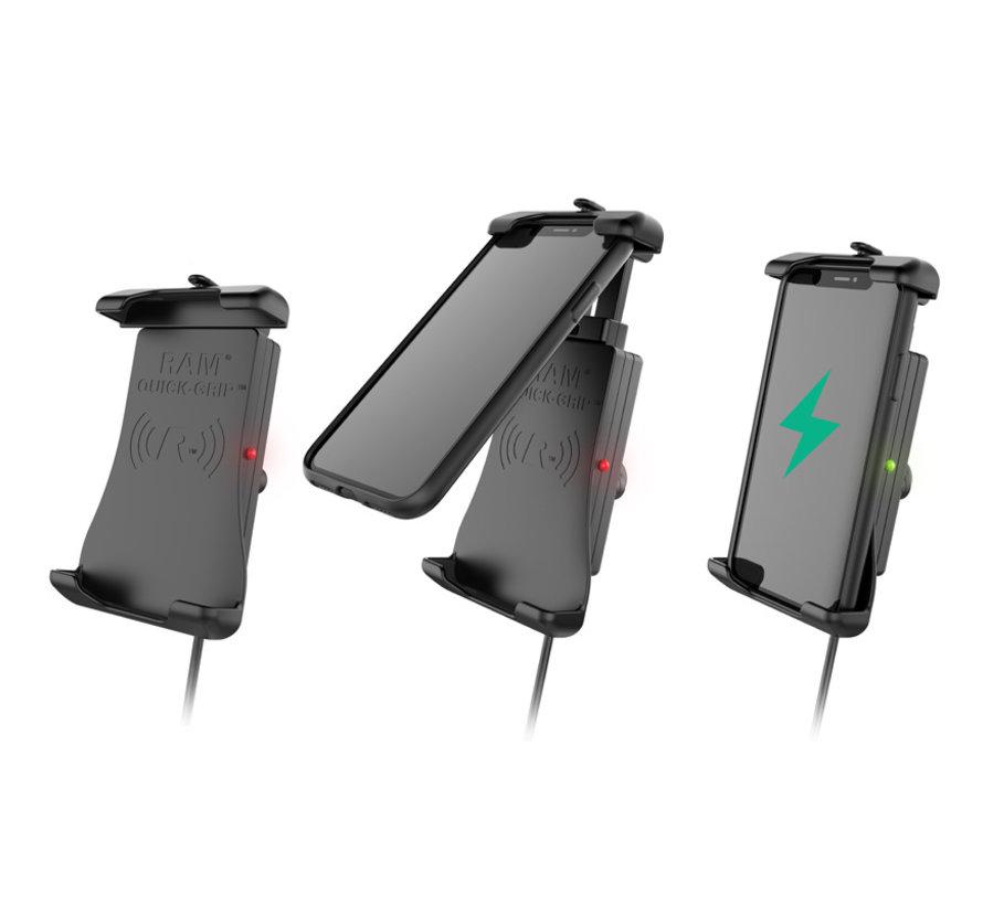 Quick-Grip™ Waterproof Wireless Charging Houder + Oplader