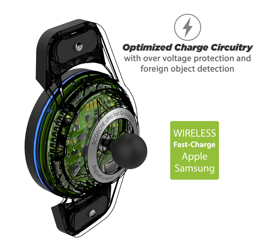 magicMOUNT™ Qi Charge3 10W Wireless Charger Ventilatierooster