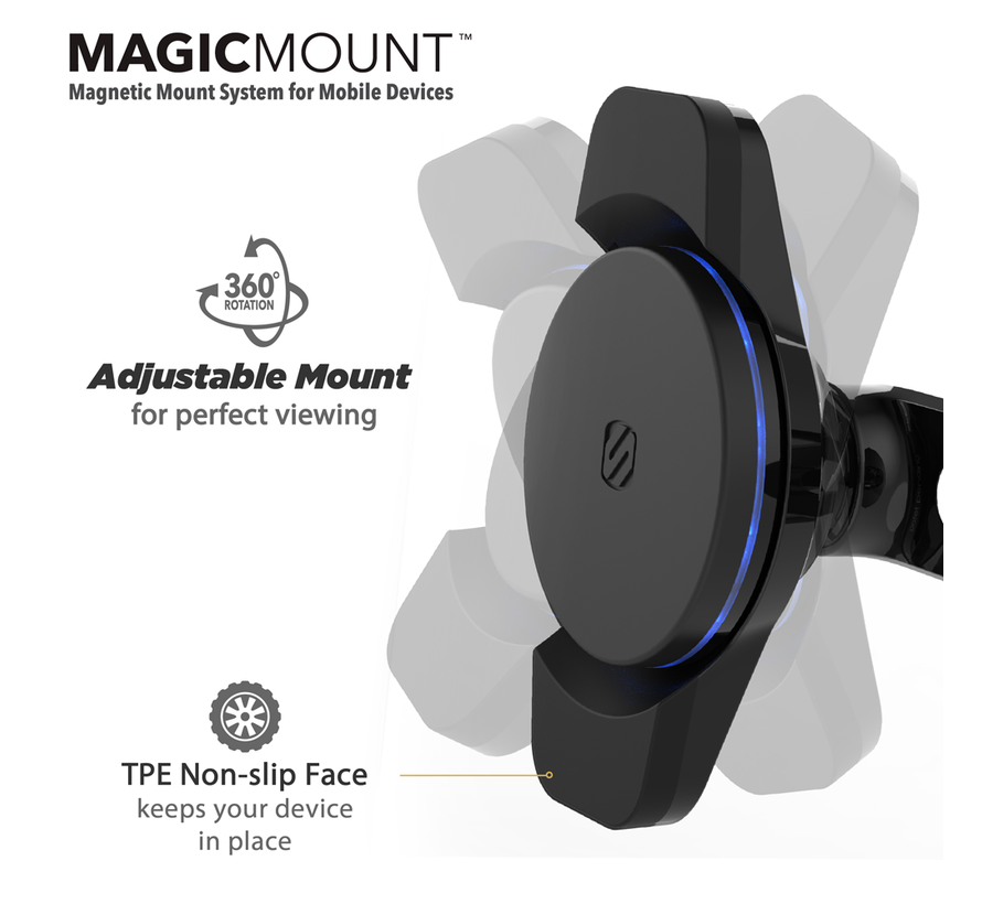 magicMOUNT™ Qi 10W Charge3 Wireless Charger zuignap