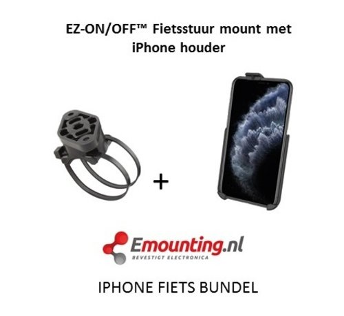 RAM Mount EZ-On/Off™ iPhone 11 PRO Fietsset RAP-274-1-AP29U