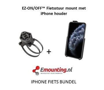 RAM Mount EZ-On/Off™ iPhone 11 PRO MAX Fietsset  RAP-274-1-AP30U