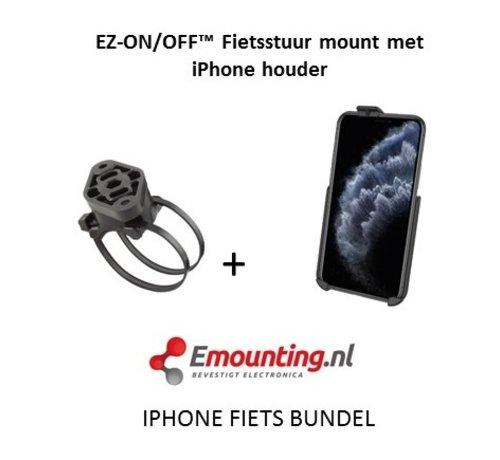RAM Mount EZ-On/Off™ iPhone 6+/7+/Xs MAX Fietsset  RAP-274-1-AP19U