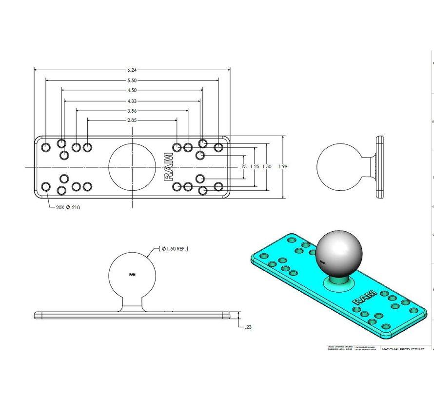 Electronica montageplaat C-Kogel