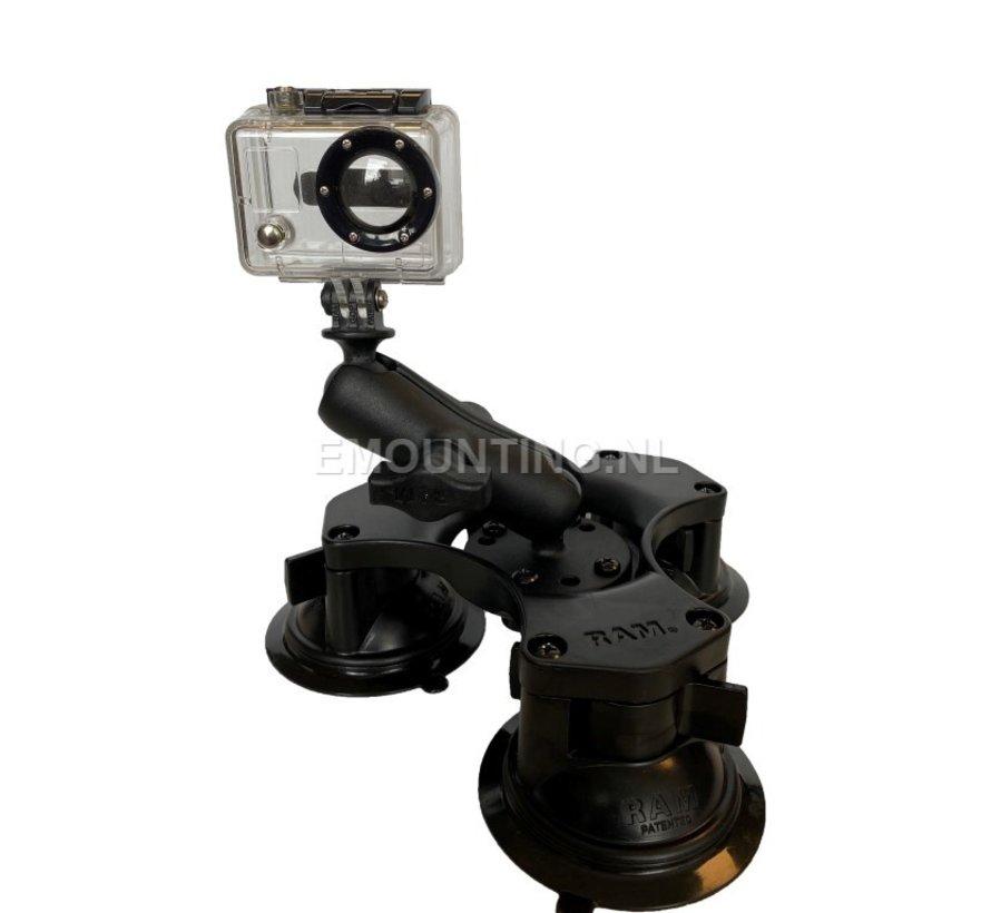 Triple Suction GoPro montageset RAP-B-365-224-GOP1U