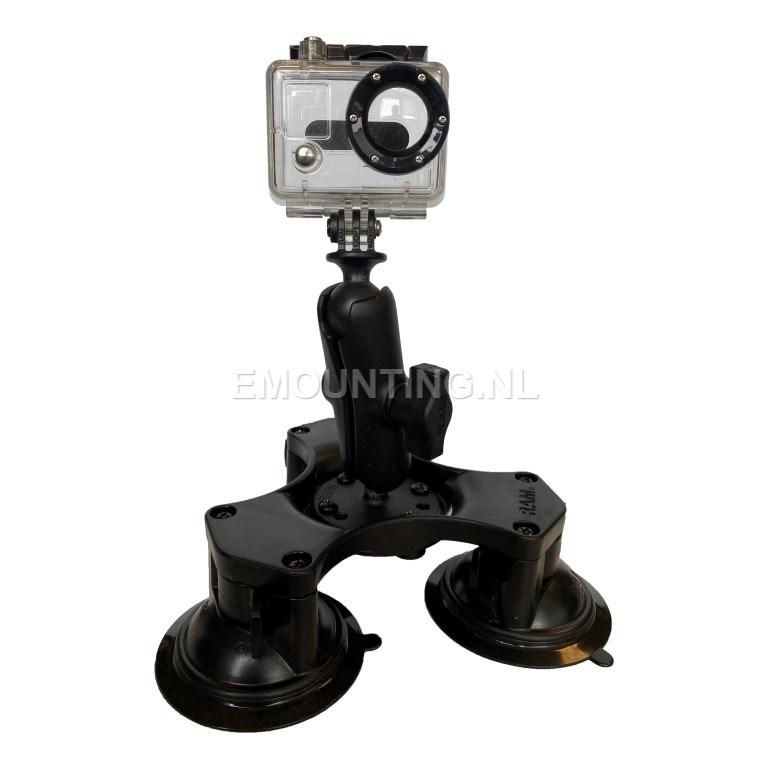 RAM Mount Triple Suction GoPro montageset RAP-B-365-224-GOP1U