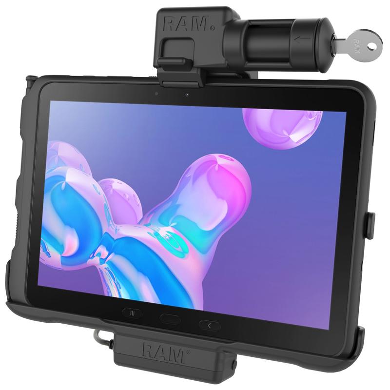 RAM Mount Powered houder Samsung Galaxy Tab Active Pro Key-lock SAM57PKLU