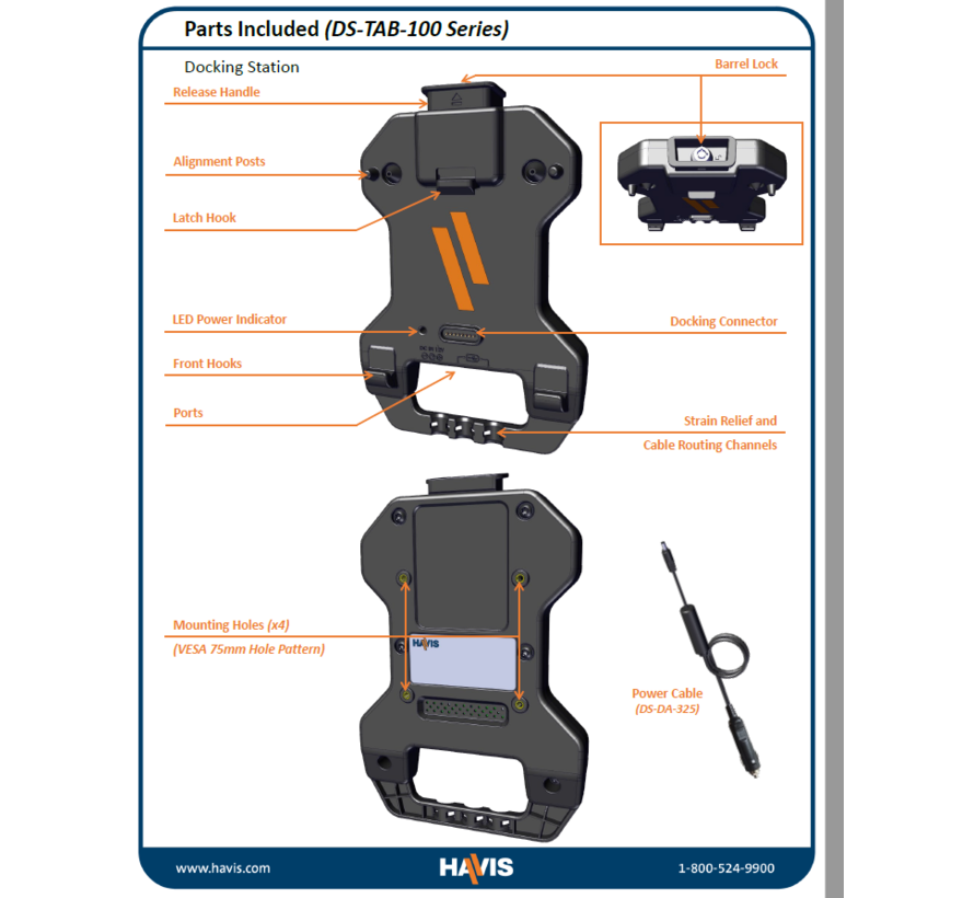 Rugged Cradle for Samsung Galaxy Tab Active Pro