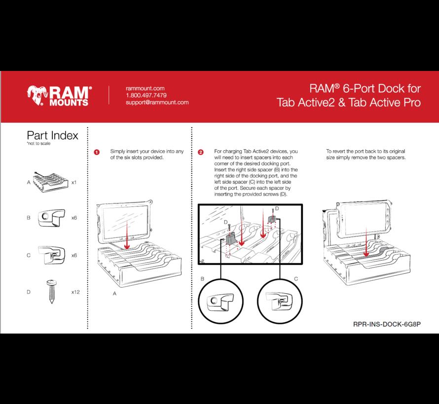 6-Port Dock for Tab Active3, Tab Active2 & Tab Active Pro