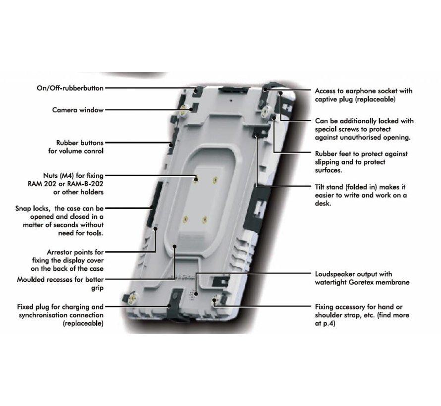 aiShell heavy-duty case iPad  10.2-Legergroen