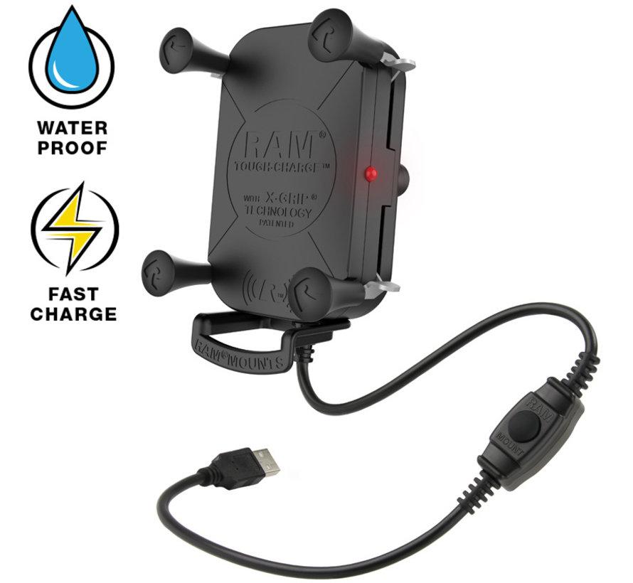 Tough-Charge™ X-Grip® Tech Waterproof Wireless Charging Houder  RAM-HOL-UN12WB