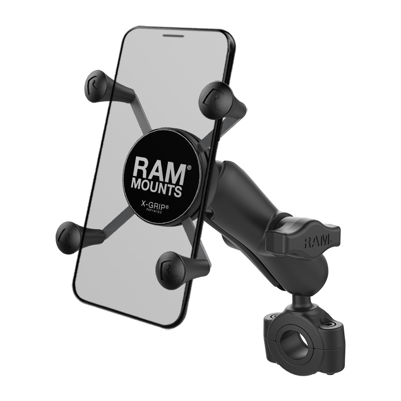 "RAM Mount Torque™ 3/4"" - 1"" Diameter Handlebar/Rail Base with 1"" Ball and X-Grip®"