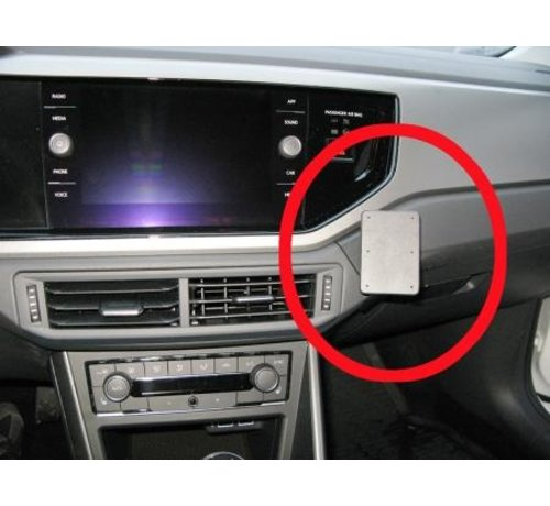 Brodit Proclip Volkswagen Polo 18- Angled mount, Right