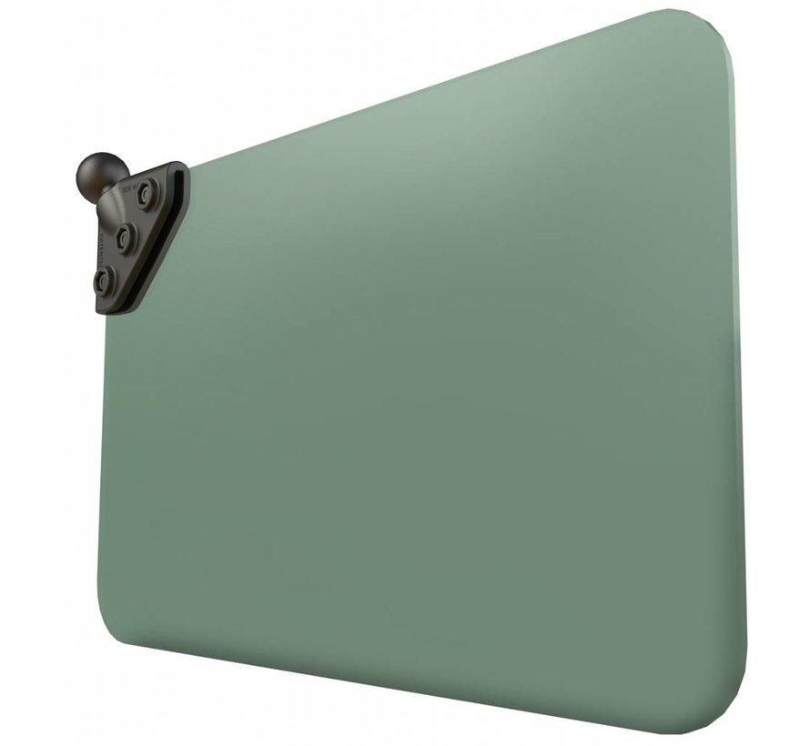 Donker groene sunvisor met B-Kogel