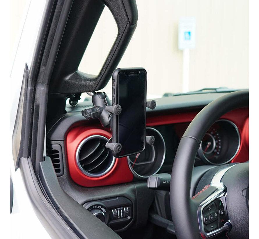 Motorset B-Kogel M8 + X-Grip houder smartphone