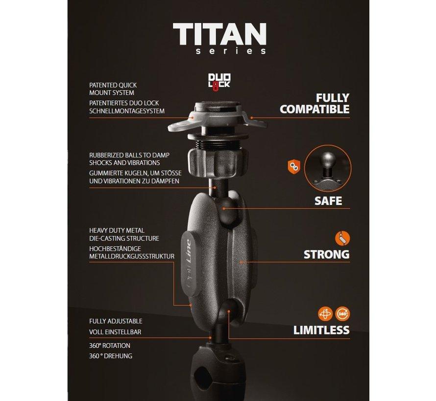 Titan Opti-Pole, spiegel en schroefvaste bevestiging  met universele smartphonehouder bundel