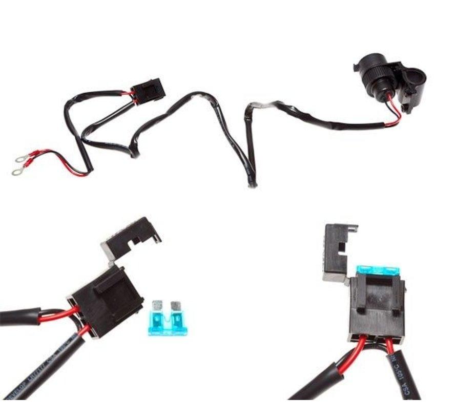 Motor 12V 15A Power Supply Cigarette Accessory Socket Handlebar Mount