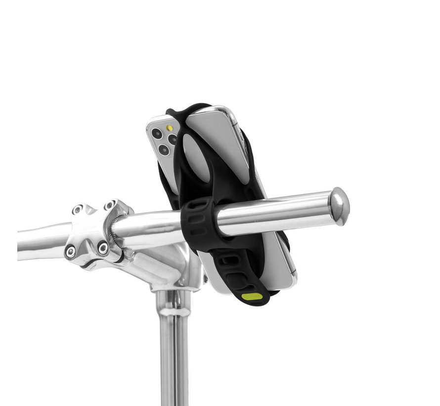 Bone Sports telefoonhouder fiets stuurstang - Universeel- Bike Tie 4  Powerstrap+ Varta Power Bank Combo