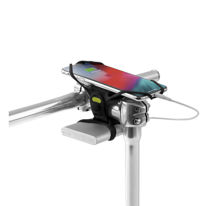 Bone Sports telefoonhouder fiets stuurpen - Universeel- Bike Tie PRO4 Power Varta Power Bank