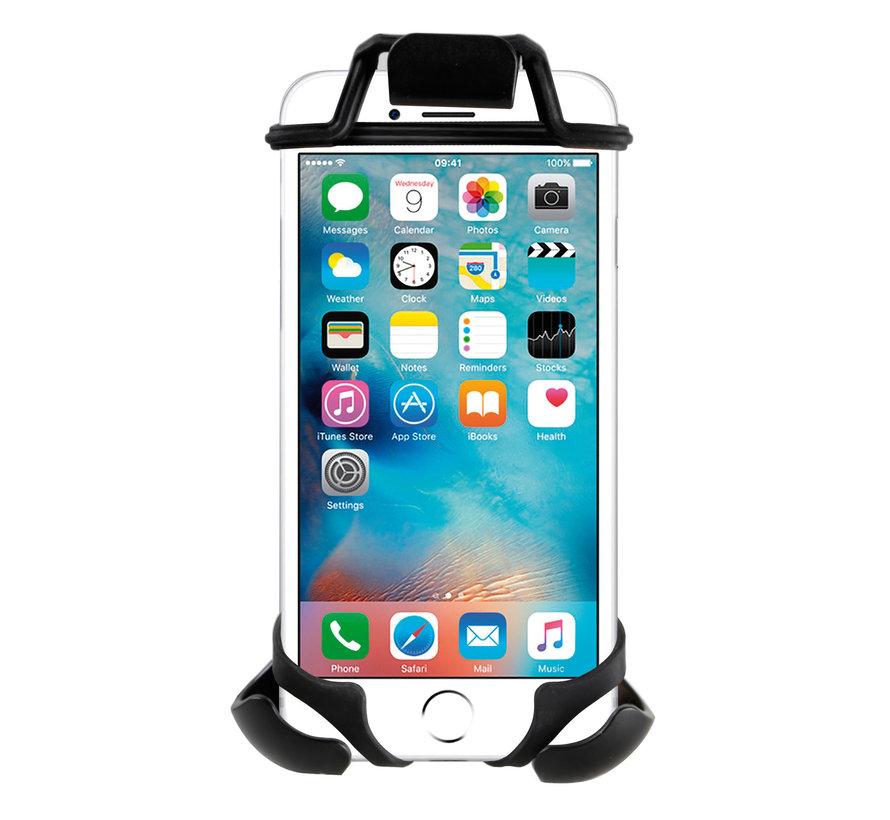 Titan Opti Bar, spiegel en crossbarbevestiging met universele smartphonehouder bundel
