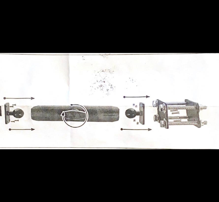 heftruckkooi bevestiging  25mm en 18 cm klemarmset