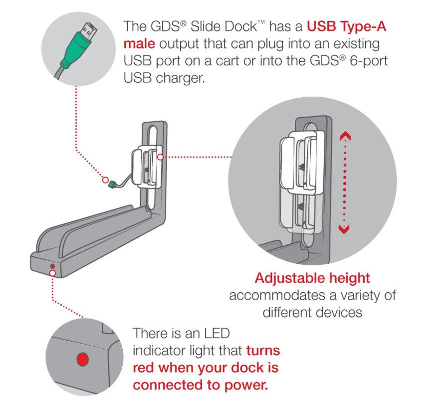 GDS® Slide Dock™ with Drill Down Attachment for IntelliSkin® Next Gen