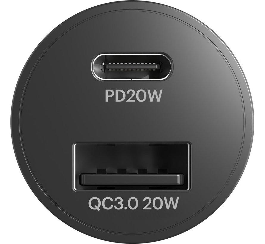 CarPower 20W USB-C & USB-A Car Charger