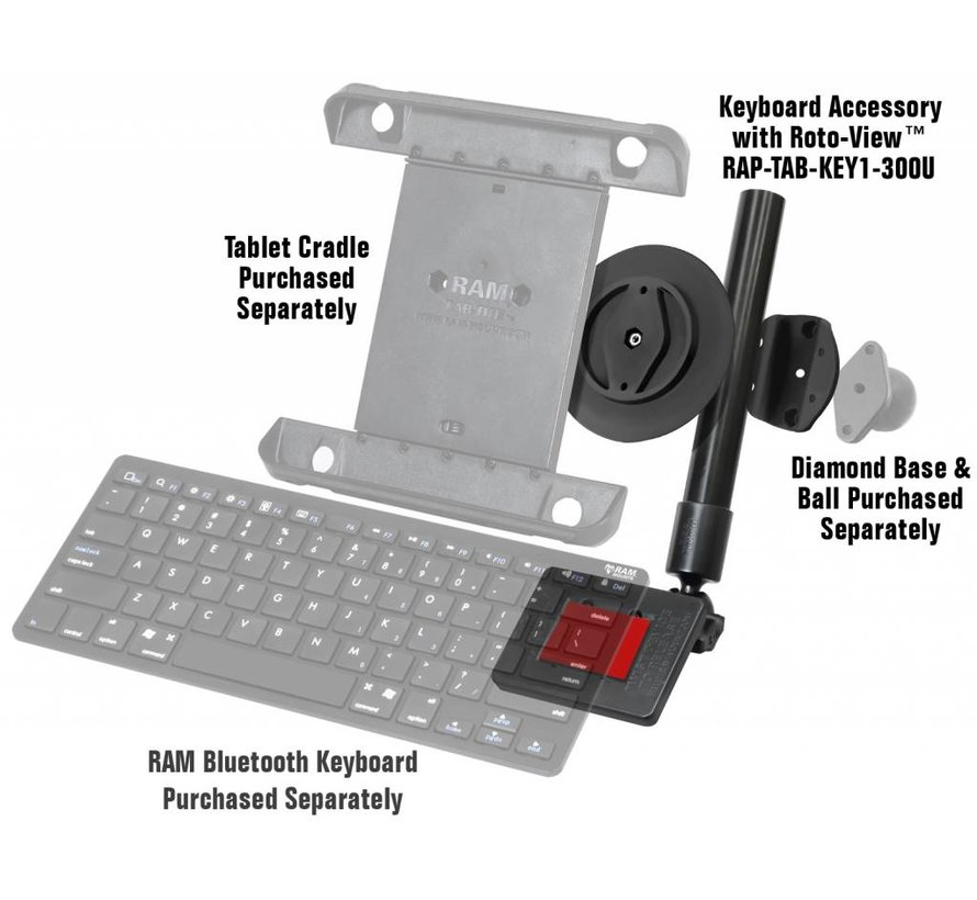 Keyboard beugel voor Tablets met Roto-View™