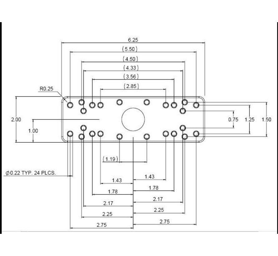 Rechthoekige montageplaatl RAM-B-111BU