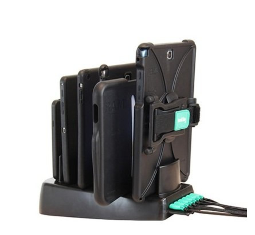 Desktop 6 Gang Dock Charger with GDS™ Technology for RAM IntelliSkin™ Products