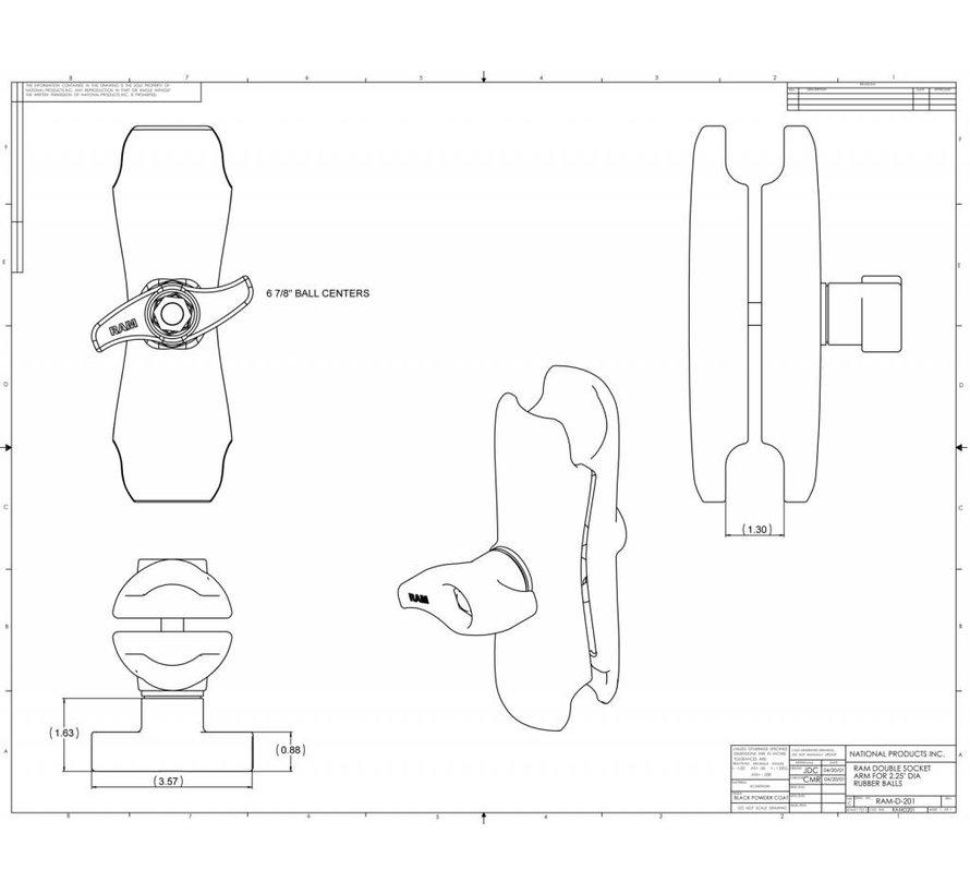 D-Kogel RAM-D-201U montage klemarm
