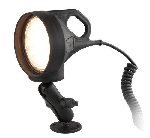 RAM Mount LED Spotlight met Klemhouder, complete set