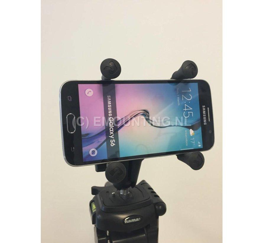 Smartphone fotostatief montage