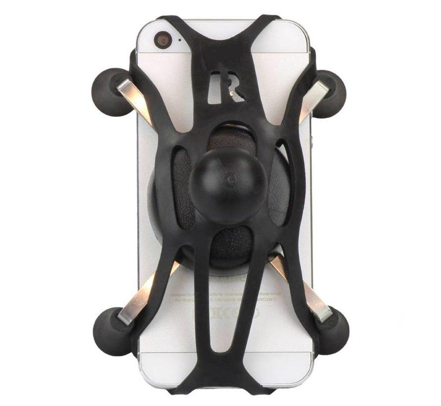 "Torque™ 3/8"" - 5/8"" Diameter Mini Rail Base and X-Grip® for Phones"