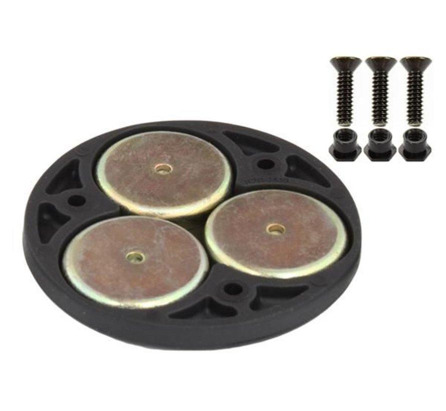 Drievoudige magneet base met adapter plaat