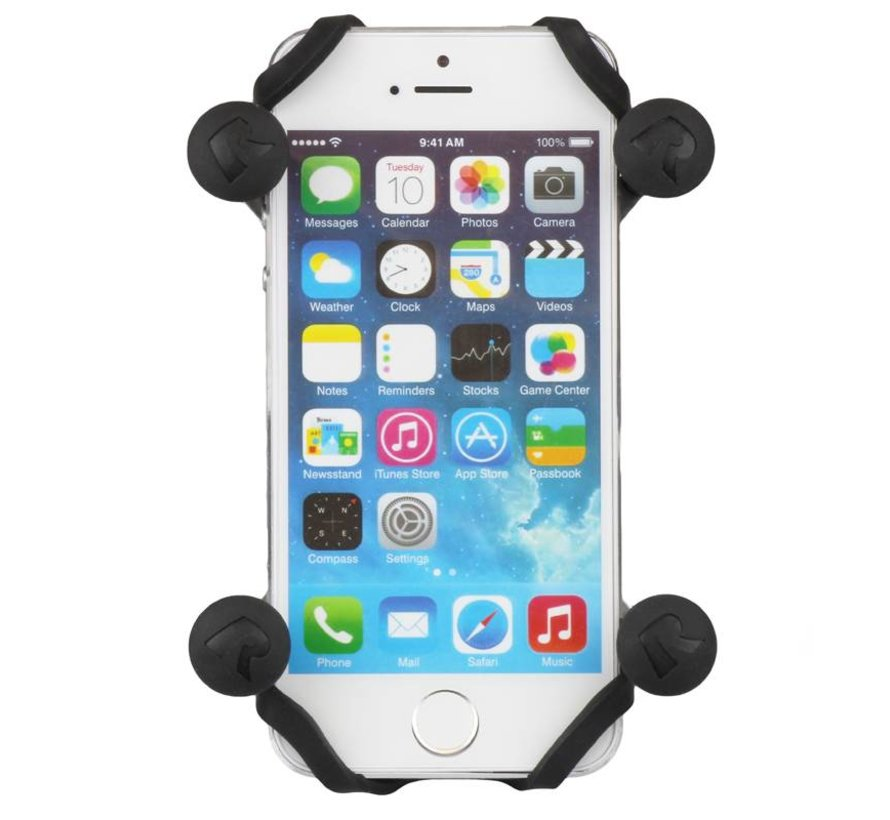 X-Grip smartphone met klemarm