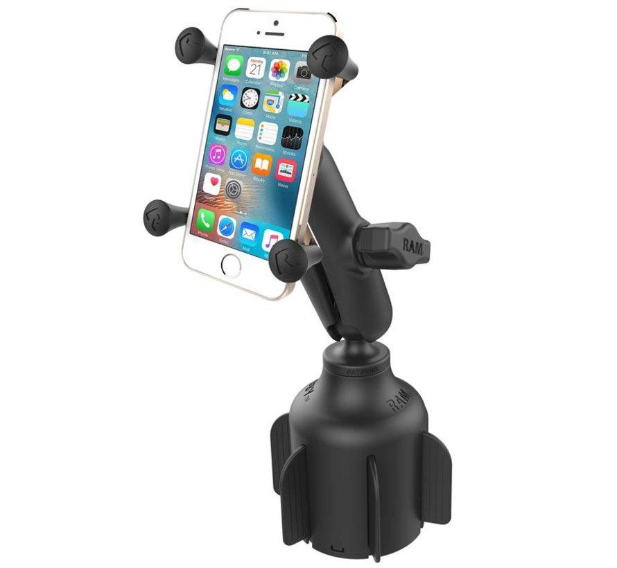 Stubby™ Cup Holder base met X-Grip smartphone