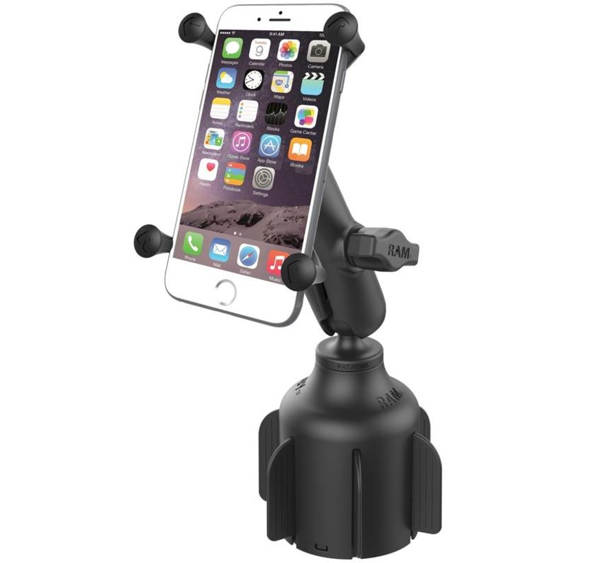 Stubby™ Cup Holder base met X-Grip large smartphone