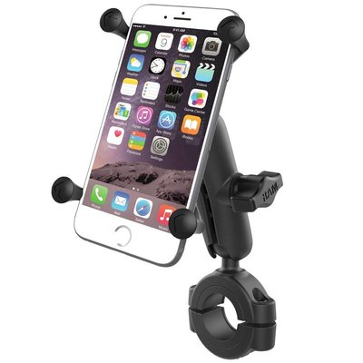 """RAM Mount Torque™ 1 1/8"""" - 1 1/2"""" Diameter Handlebar/Rail Base with 1"""" Ball and X-Grip® for Larger Phones"""
