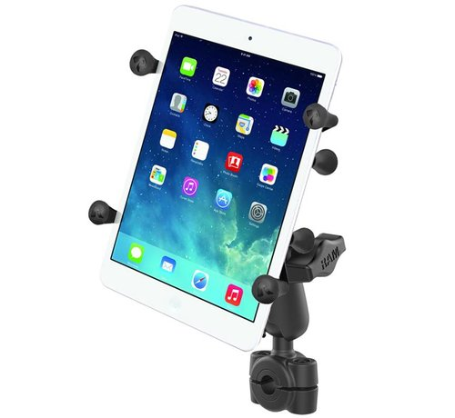 "RAM Mount Torque™ 3/8"" - 5/8"" Diameter Mini Rail Base with 1"" Ball and X-Grip® for 7-8"" Tablets"