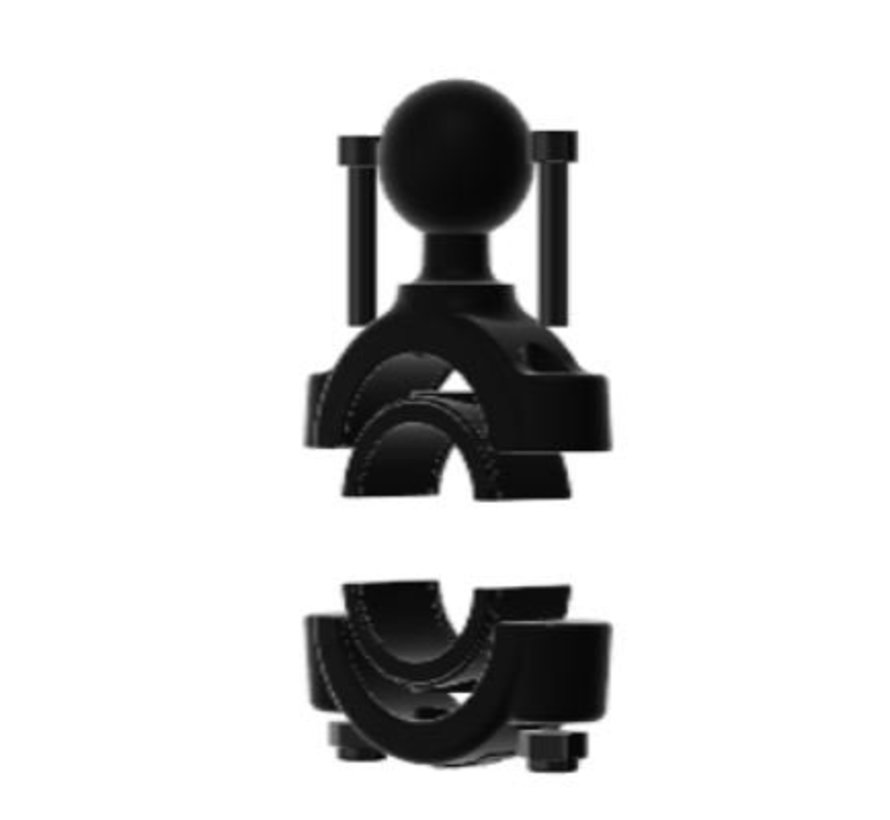"""Torque™ 3/4"""" - 1"""" Diameter Handlebar/Rail Base with 1"""" Ball and X-Grip® for 7-8"""" Tablets"""