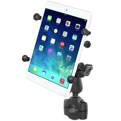 """RAM Mount Torque™ 3/4"""" - 1"""" Diameter Handlebar/Rail Base with 1"""" Ball and X-Grip® for 7-8"""" Tablets"""