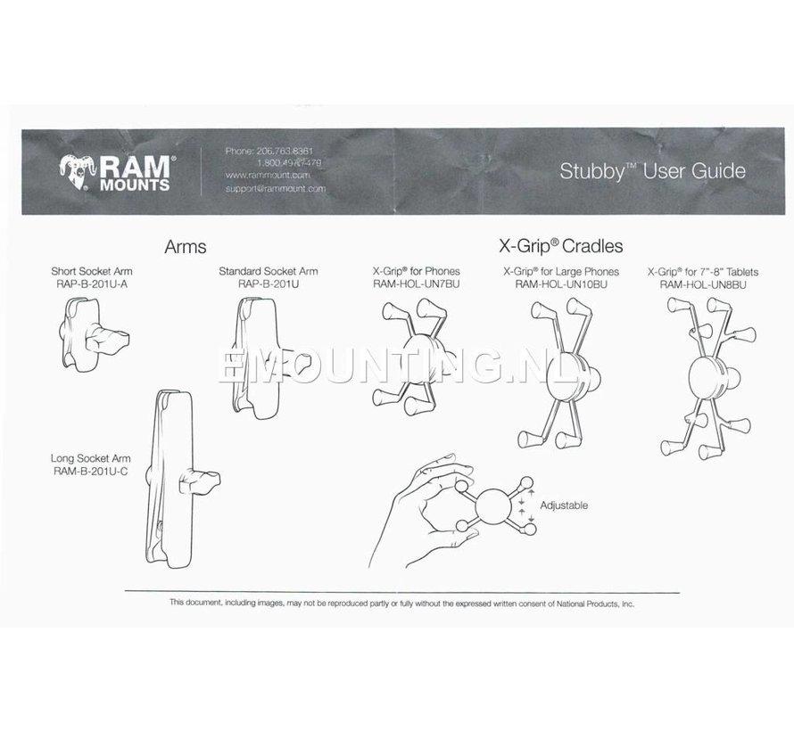 Stubby™ Cup Holder base met B-kogel