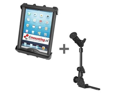 RAM Mount Universal No-Drill POD HD mount met iPad 9.7-10.5/TAB A/S dikke cases tablethouder