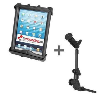 RAM Mount Universal No-Drill POD HD mount met iPad Air/TAB A/S2 dikke cases tablethouder