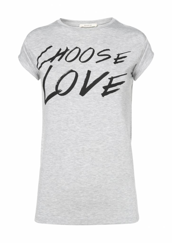 Choose Love T-shirt Nikkie - gray