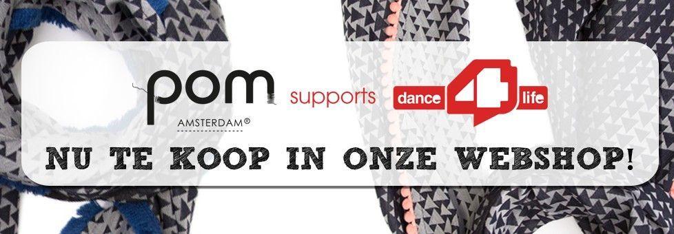 POM Amsterdam dance4life shawl - blauw
