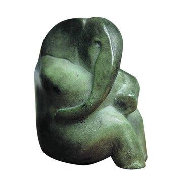 Pink elephant - brons - Miep Maarse