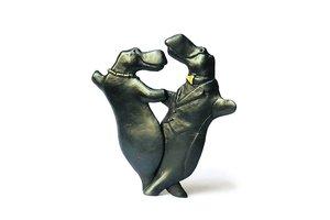 Dansende nijlpaarden - brons - Miep Maarse